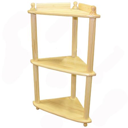 Деревянная угловая этажерка своими руками